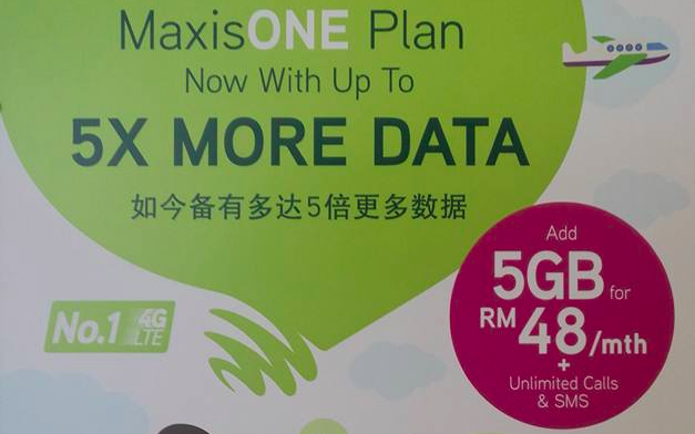 Maxis to upgrade MaxisONE plan with extra 5GB data for RM48