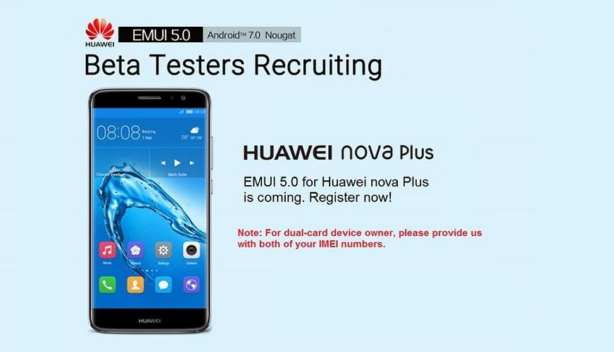 Got a Nova Plus? Join the Huawei EMUI 5 beta tester program