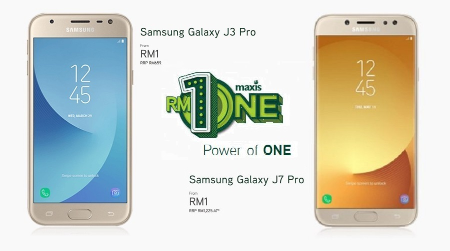 The Galaxy J3/J7 Pro is just RM1 when you sign up with