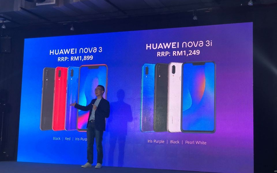 Huawei Nova 3 & 3i launched locally from RM1249, available