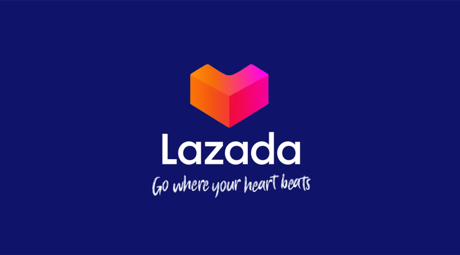 "LAZADA adds new logo with slogan ""Go Where Your Heart"